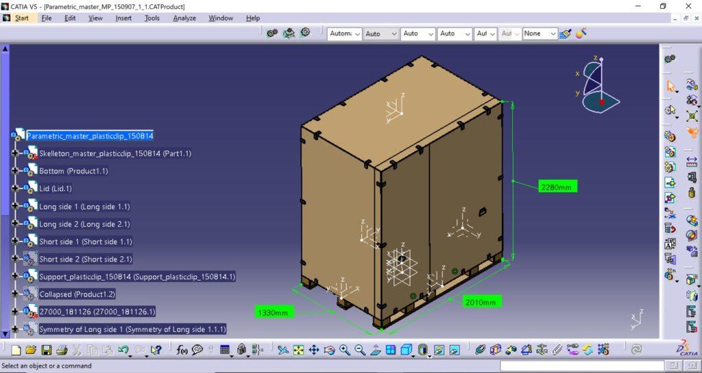 Håndtag på siderne er i dette tilfælde fæstnet, for at opnå nem og optimal håndtering i forbindelse med samling og adskillelse af denne type kasse. Alle dele i vores kasser er ISPM15 godkendt og derfor velegnet til globale forsendelser.
