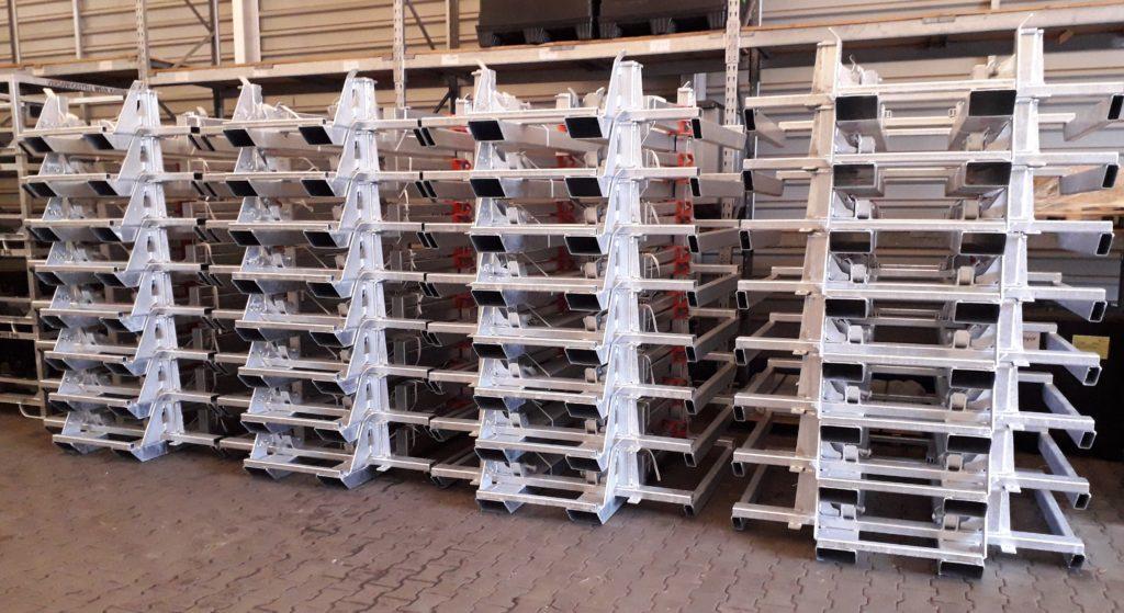 foldable steel racks for transaxles