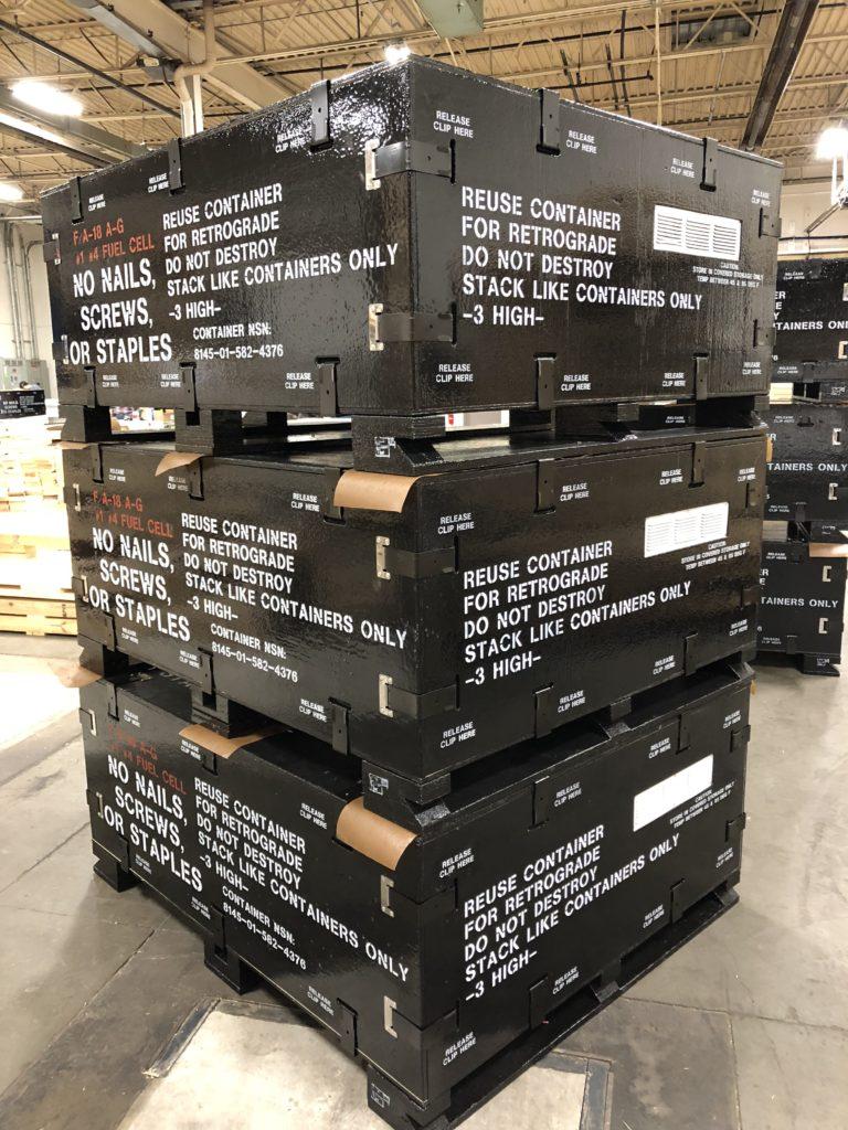 Emballageløsning til brændstofblære brugt i militæret